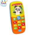 Bebé toys teléfono móvil del teléfono móvil modelo de teléfono máquina de aprendizaje temprano educativo juguete de la música eléctrica máquina de juguete para niño 6 m +