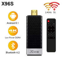 Mini pc android 8.1 tv vara inteligente 4 k iptv tv caixa x96s amlogic s905y2 ddr4 4 gb 32 gb bluetooth 4.2 5g wifi tv dongle media player