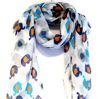 Owl Print Infinity Scarf Circle Scarf Spring Scarf Owl Scarf Print Scarf Women Loop Scarf