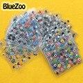 BlueZoo Высокое Качество 50 Листов Цветок Ногтей Наклейки 3D Ногтей Аксессуары Многоцветный Надписи DIY Ногтей Украшения Ногтей Поставки