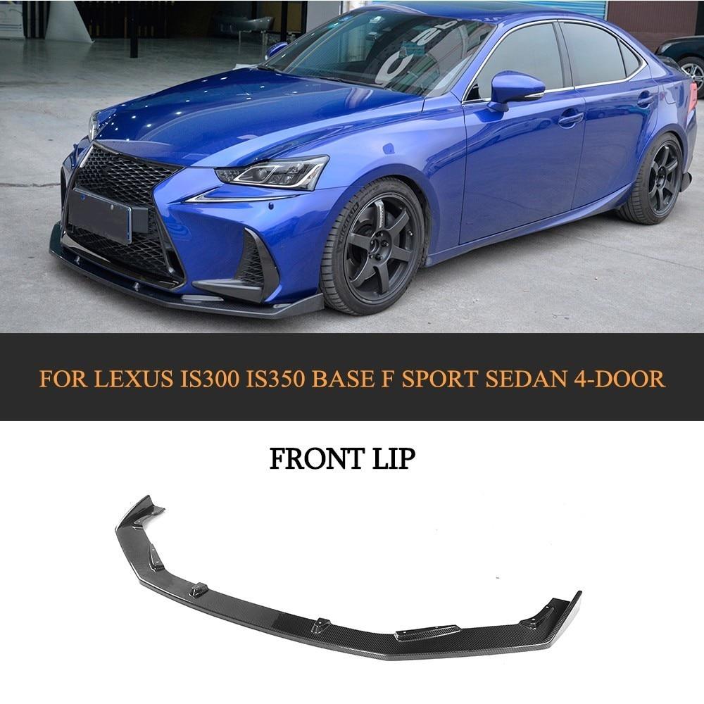 Carbon Fiber Front Bumper Guard Lip Spoiler for Lexus IS300 IS350 Base F sport Sedan 4-Door 17-18 Chin Protector Apron