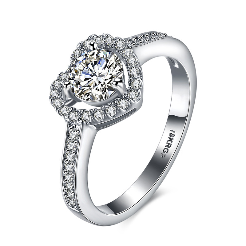 GPR807, Ki Brilliant-3 collection, classic heart design, top AAA clean cz in silver color. Best for gift, Christmas, party