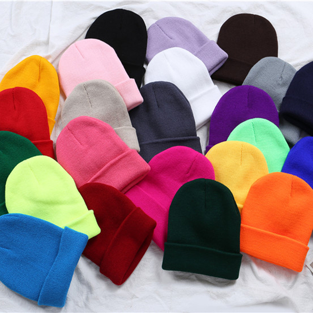 New Women Winter Hats Beanies Knitted Solid Hat Girls Autumn Female Beanie Caps Warmer Bonnet Ladies Casual Cap Gym Running Caps