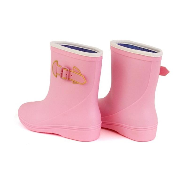 Lightweight Colorful Flat Heel Waterproof Rain Boots for Women