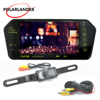 HD 7 Inch TFT LCD Display 800*480 Parking System Night Vision Car Mirror Monitor MP5 USB/SD/FM Rear View Camera Transimitter