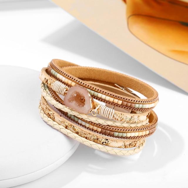 Big Stone Crystal Wrap Bracelets Bangles 3