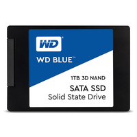 Western Digital WD Blue SSD interne 1 To SATA 6 Gbit/s 2,5 Interne solid state WD Blue 3D NAND SATA SSD WDS100T2B0A