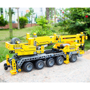Image 5 - City Engineering Machine Car Building Blocks Technic Enlighten DIY Construction Bricks Toys For Children Kids Christmas Gifts