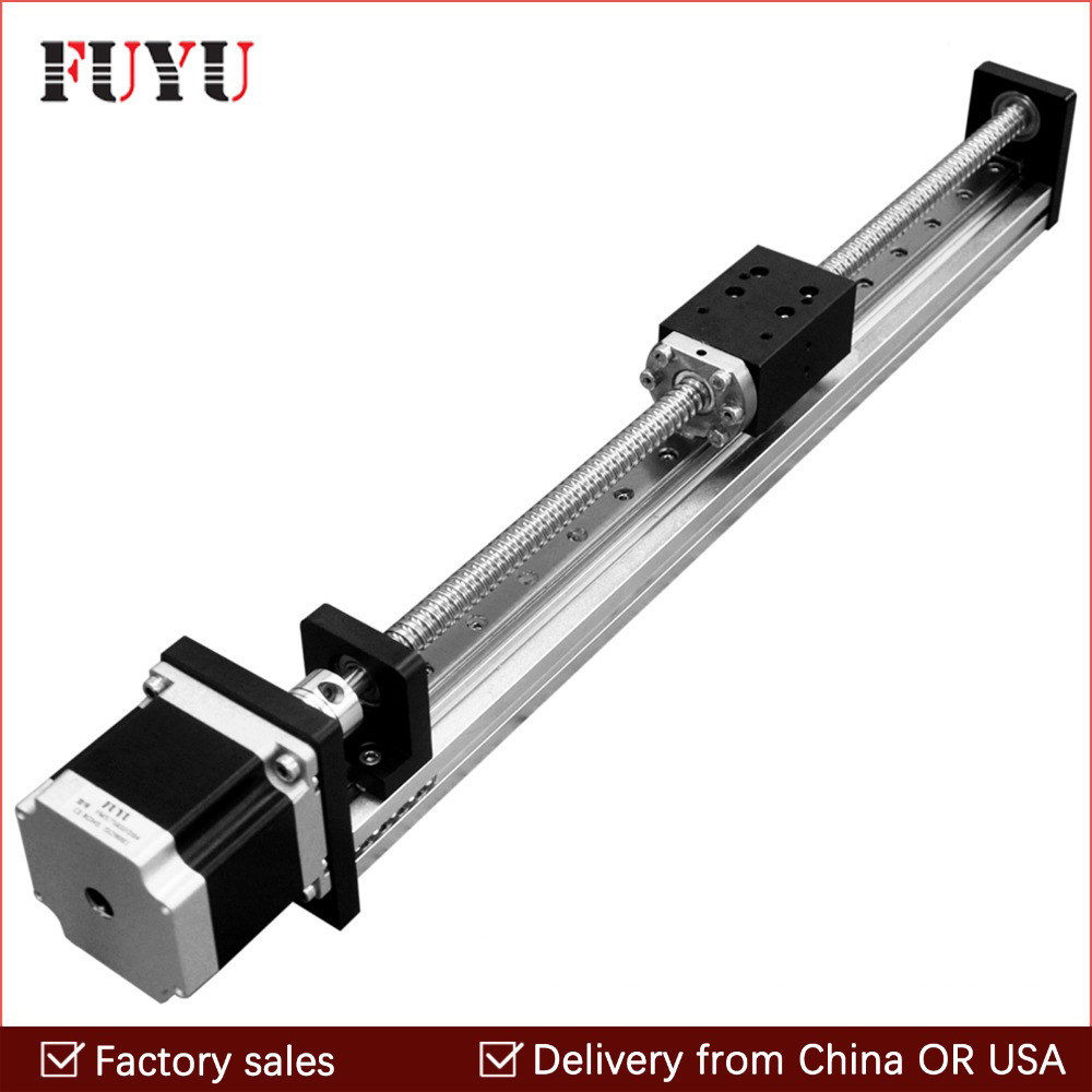 Free shipping 50mm 1000mm Travel Stroke CNC Linear Guide Rail Stage Actuator Slide Ball Screw Motorized