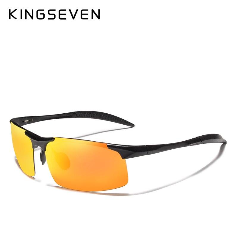 671e7c4f4 Barato KINGSEVEN Homens Polarizados Óculos de Sol Coloridos Óculos de Sol  de Alumínio E Magnésio Para