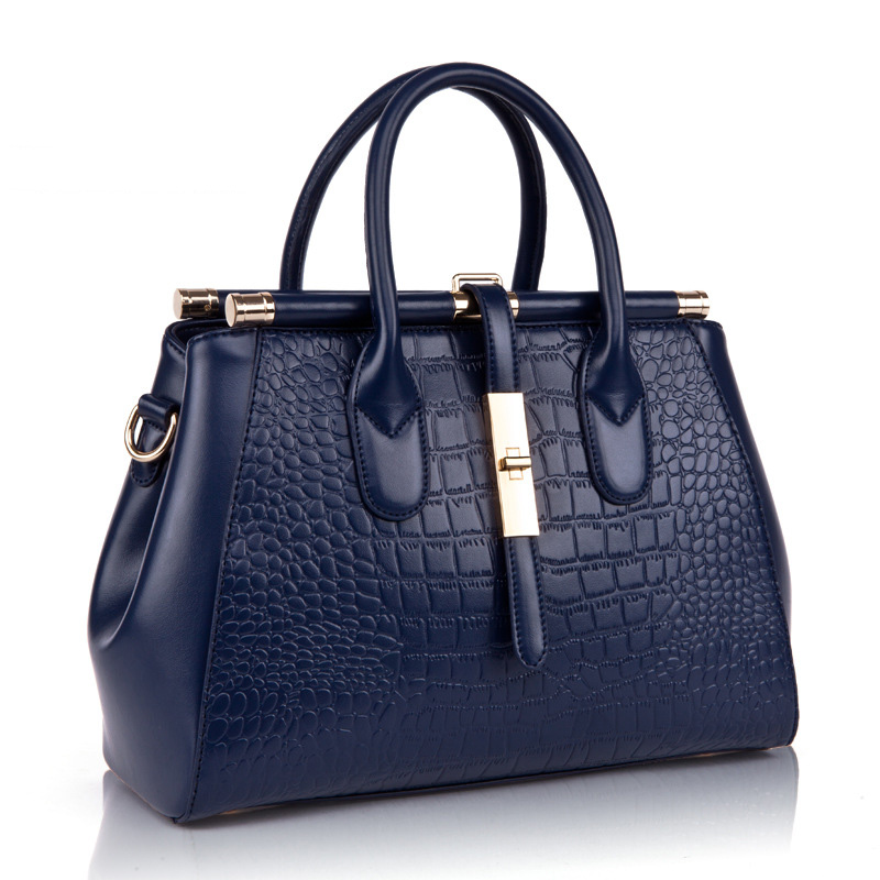 Women Handbag Genuine Leather Handbag Female Top handle Bag Luxury Designer Crocodile Pattern Handbags High Quality