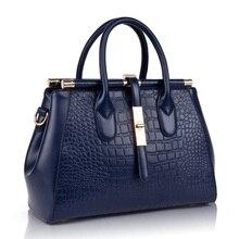 Women Handbag Genuine Leather Female Top-handle Bag Luxury Designer Crocodile Pattern Handbags High Quality Tote