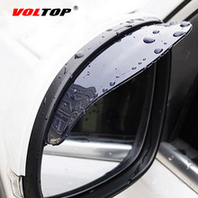 VOLTOP Universal Car Rearview Mirror Eyebrow Rain Block Blades Flexible PVC Back Mirror Rain Shade Rainproof Blades Water Cover