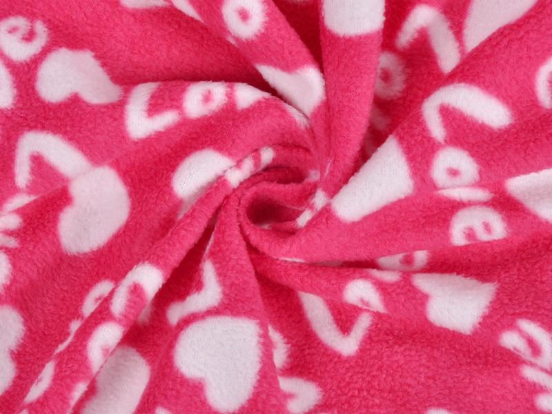 Ladies Plus Size Soft Microfiber Fleece Red Robe Love Lingerie Dressing Gown Kimono Sleepwear Bathrobe For Women