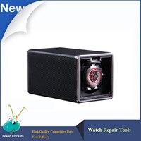 Luxury Black Carbon Fiber Spraying Ultra Quiet Motor Automatic Watch Winder Box 4 Modes Watch Winder