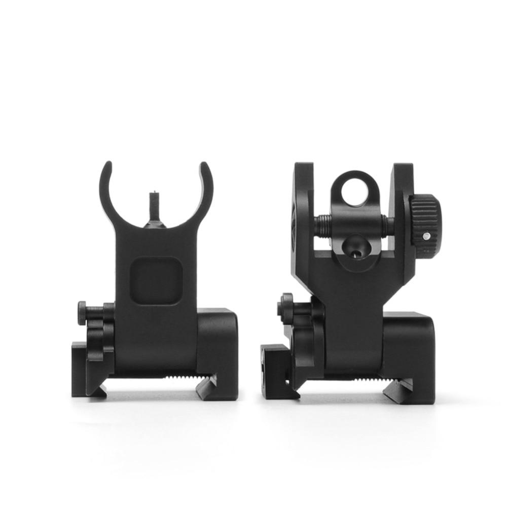 Flip up Front Rear Iron Sight Set Dual Halve maan Vorm BUIS - Jacht - Foto 4