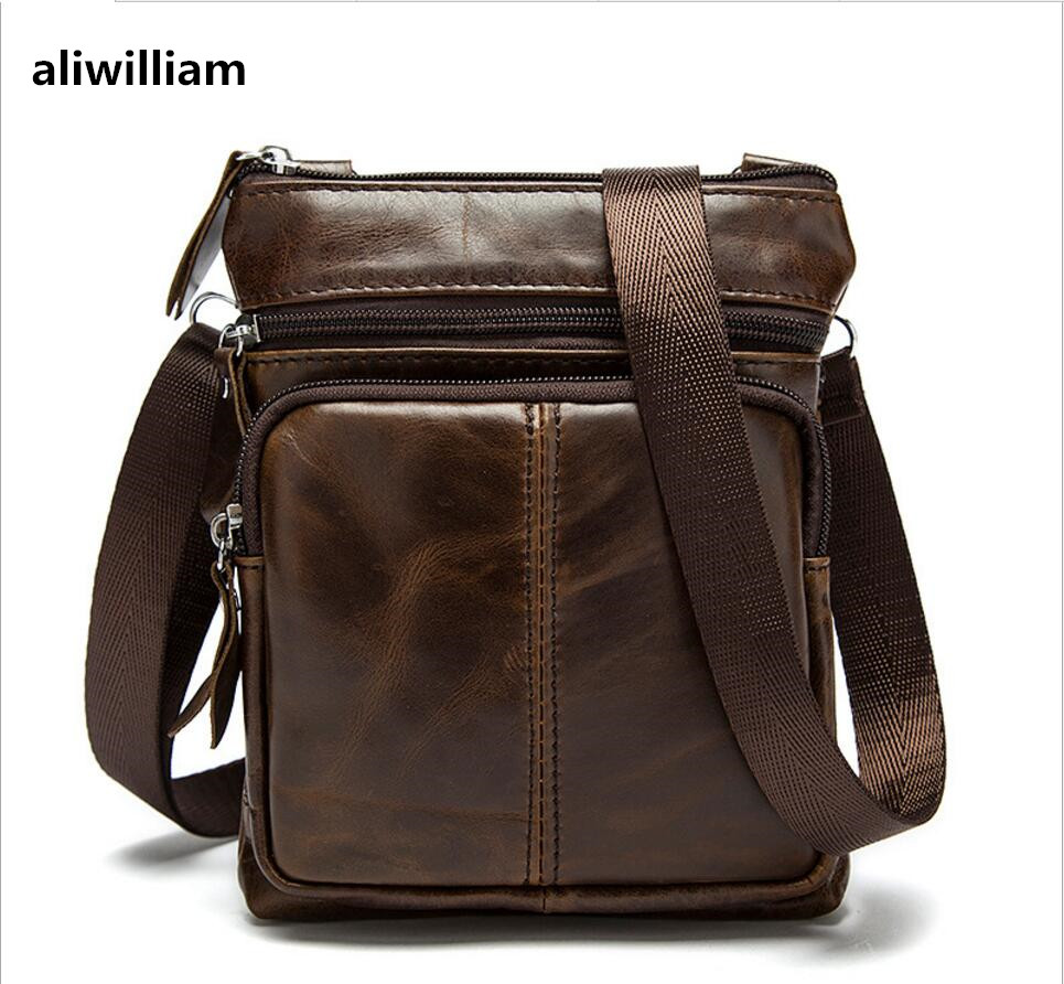 ALIWILLIAM 2017 New Leather Men's First Layer of Leather Shoulder Bag Leather Men's Messenger Bag Retro Style Men's Hot Package qiaobao 2018 new korean version of the first layer of women s leather packet messenger bag female shoulder diagonal cross bag