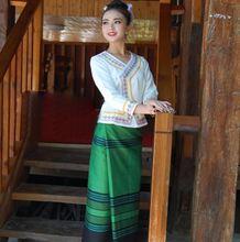 Китайская традиционная одежда yunnan xishuangbanna dai белая