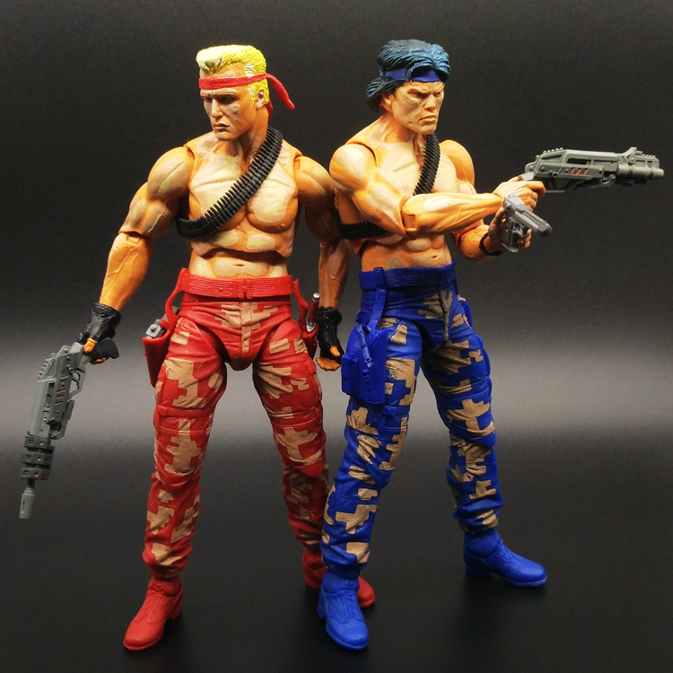 ФОТО Hot Sale Contra 7 Figures - Bill And Lance 2-Pack Video Game Appearance by Contra
