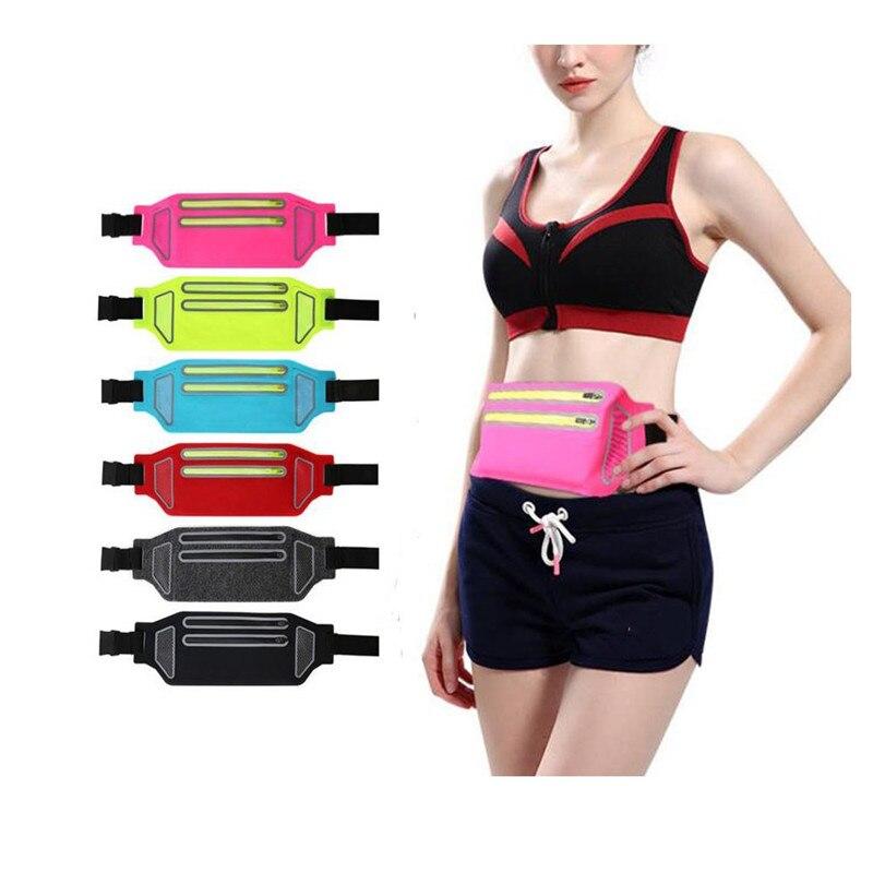 Outdoor Running Waist Bag Gym Sports Jogging Running Belt Bag Mobile Phone Holder Pocket Fitness Women Men Cycling Walking Bag