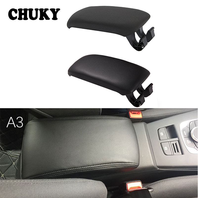 Cloth Leather Car Center Console Armrest Cover For <font><b>Audi</b></font> <font><b>A3</b></font> 8P A5 2003 2004 2005 <font><b>2006</b></font> 2007 2008 2009 2010 2011 2012 <font><b>Accessories</b></font> image