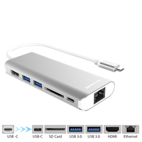 Amkle 6 In 1 USB 3 0 HUB USB 3 1 Type C To HDMI USB