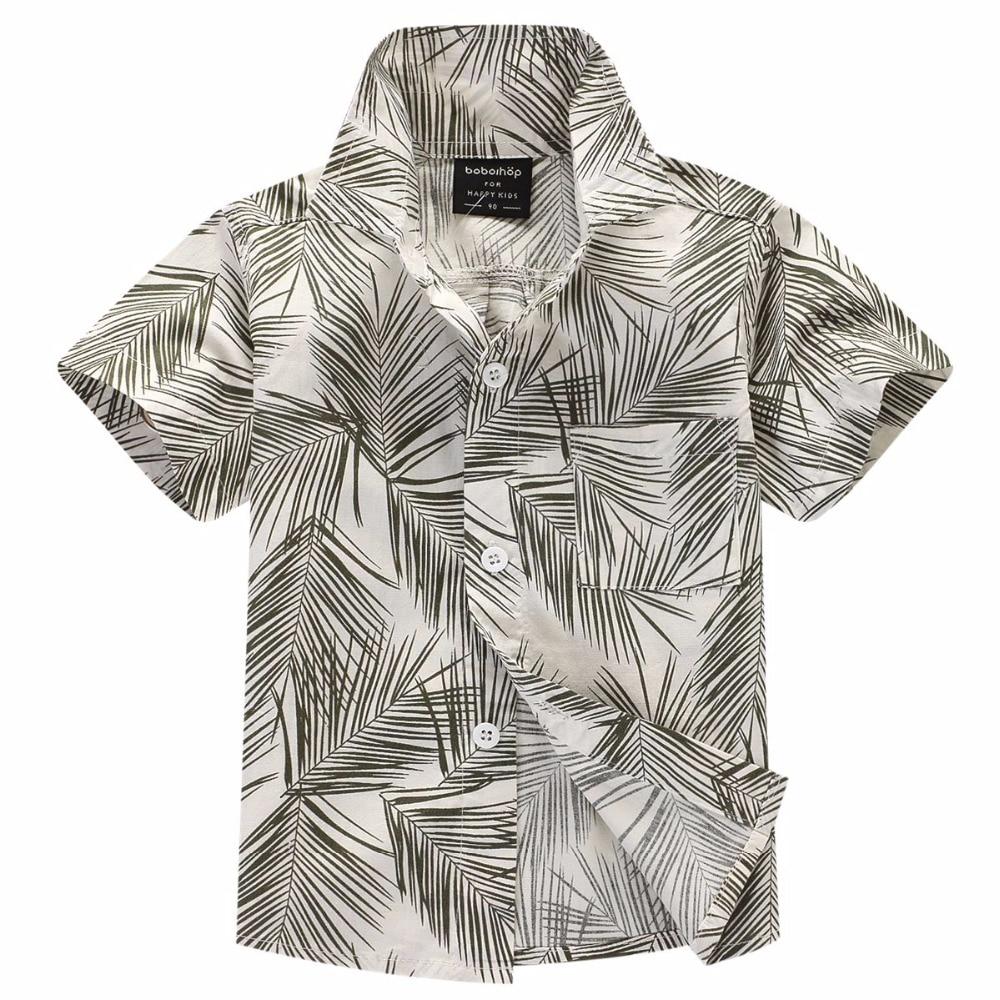 100% floral hawaiianisches Hemdhemd Aloha-Shirt für Jungen T1705