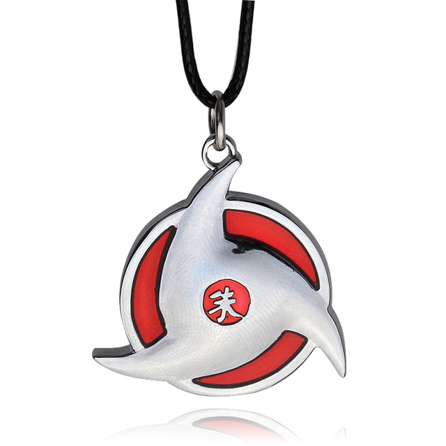 Leather Chain Naruto Symbol Necklace Pendant