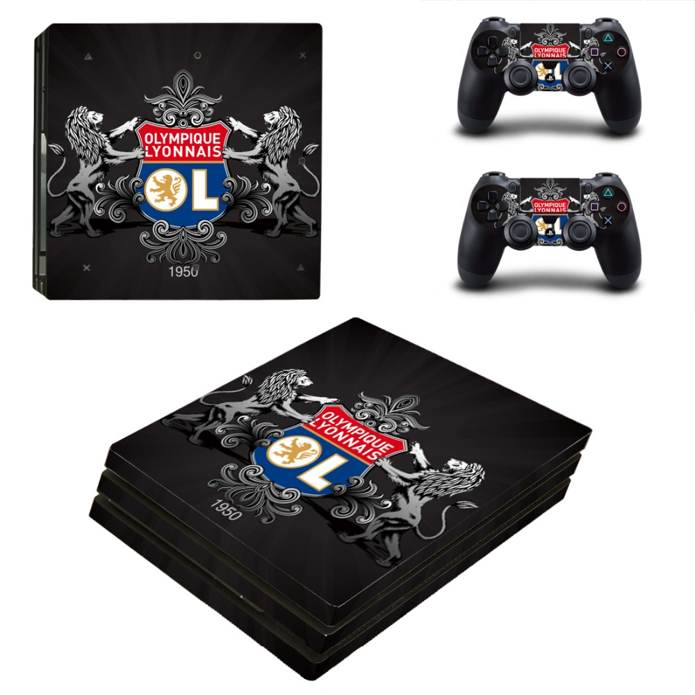 Olympique Lyonnais Football Team PS4 Pro Skin Sticker For PlayStation 4 Pro Console and Controllers PS4 Pro Stickers Decal Vinyl