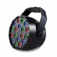 LED RGB DJ Luzes 18 W DMX512 Mestre Escravo LEVOU Efeito de Iluminação de Palco para a Festa Em Casa DJ Club Disco KTV Luz Par Impermeável|Efeito de Iluminação de palco|   -