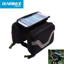 WOSAWE Sports Cycling Mountain Road MTB Bicycle Bike Frame Saddle Bag Waterproof Pannier Front Tube Bags Double Sides for 5.5″