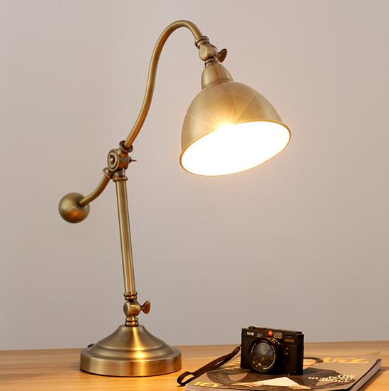 Simple Fashion Rh Style Retro Gold Table Lamp Industrial