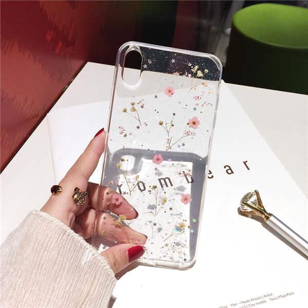 Qianliyao настоящие сушеные цветы прозрачный, мягкий чехол для iphone X 6 6S 7 8 Plus 11 Pro Max чехол для телефона для iphone XR XS Max чехол - Цвет: 1
