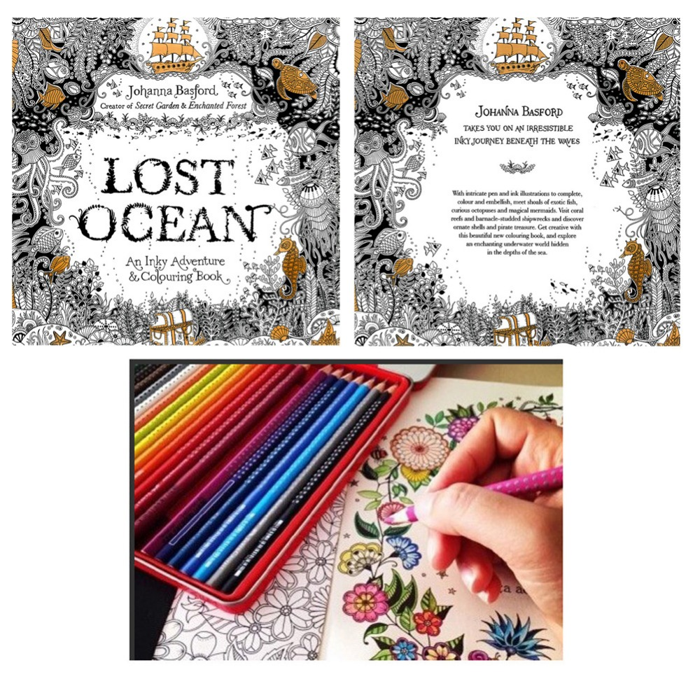 2018 High Quality Lost Ocean Drawing Coloring Book Graffiti Books Adult Painting Children New