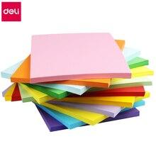 100sheets/Bag Deli 7391/7393# A4 Color copy paper 80g color print paper 8 colors optional China Top brand Deli copy papers