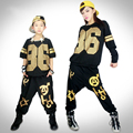 Free Shipping Children Hip Hop Harem Pants Boy Jazz Dance Clothes Popping Dance Costume Set Personalized T-shirt For Women o