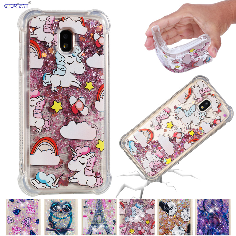 Quicksand Case for <font><b>Samsung</b></font> Galaxy J3 2017 J 3 330 SM-J330 Phone Cover SM-J330F/DS SM-J330F SM J330 J330F J330F/DS <font><b>J330FN</b></font> Funda image