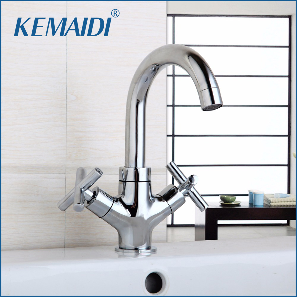 KEMAIDI Bathroom Faucet Mixer Waterfall Hot and Cold Water Taps For Basin of bathroom Faucets Modern Washbasin Design цена