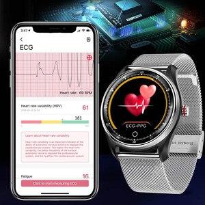 Image 2 - Cobrafly MX9 Smart Watch uomo ECG cardiofrequenzimetro pressione sanguigna Smart Wristband Fitness Tracker IP68 per Andriod Ios Phone