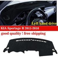 free shipping car accessories Car Stickers Car Dashboard avoid light pad For Kia Sportage R 2011 2015 Auto dashboard cover