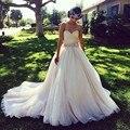Crystal Princess Arabic Wedding Dresses Turkey Elegant Vintage Vestido De Noiva Custom Made Plus Size Bridal Bride Gowns