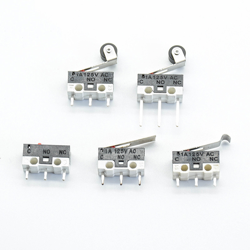10pcs Micro Limit Switch Push Button Switch 1A 125V AC Mouse Switch 3Pins Long Handle Roller Lever Arm SPDT 12* 6 *6mm TIAIHUA