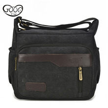 Exclusive recommendation male models canvas leisure shoulder bag large capacity multi - color Messenger three dimensional