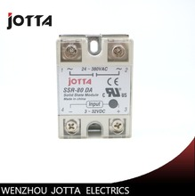 SSR -80DA  DC control AC SSR white shell Single phase Solid state relay все цены