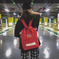 55e047255aeec Harajuku Canvas Backpack Women Cute Book Bag For Teenager Girls Female  Mochila Ulzzang High School Bag