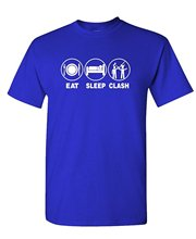 GILDAN Custom tee shirt designer EAT SLEEP CLASH – mobile gaming fun play – Mens Cotton T-Shirt Apparel birthday t shirts