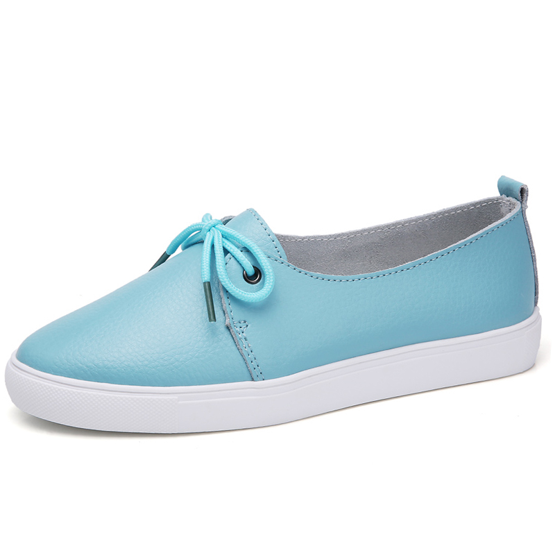 Women Shoes Ballet-Flats Moccasins Big-Size Genuine-Leather New-Fashion Casual Cowhide