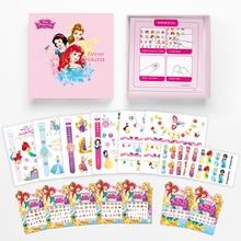 15 Pcs/lot 2019 New Disney Princess Frozen Tattoo Sticker Set With Original Box Girls Nail Finger Stud Earrings Gift