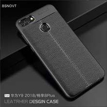 For Huawei Y9 2018 Case Shockproof Luxury Leather Anti-knock Phone Cover Enjoy 8 Plus BSNOVT