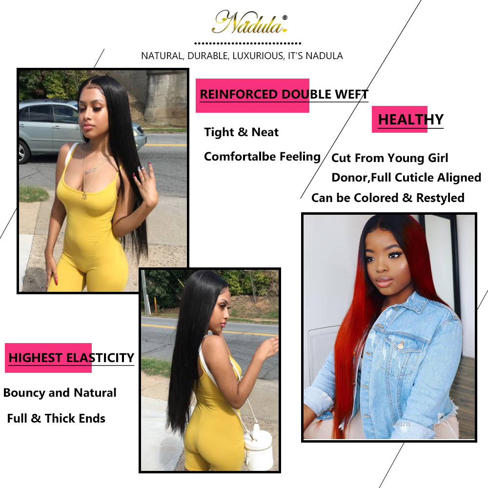 Image 5 - Nadula Hair Peruvian Straight Hair Bundles With Closure 3PCS Peruvian Hair Straight Remy Human Hair Bundles With Closure-in 3/4 Bundles with Closure from Hair Extensions & Wigs